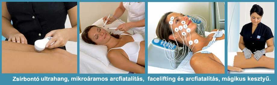 Ultratone Futura Pro zsírbontó ultrahangos és arcfiatalító kezelések